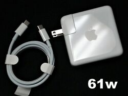 Genuine OEM Apple 61W USB C Power Adapter amp; Cable MRW22LL For MacBook Pro amp; Air $24.75