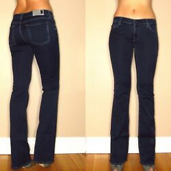 New 178 7 For All Mankind Womens Skinny Bootcut Gummy Jeans Dark Rich Sateen 25