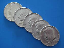Kennedy 1964p Half Dollars 2.50 Face Value Lot 4 - 90 Silver Us Coins