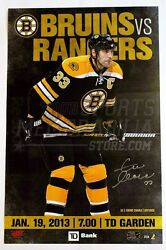Zdeno Chara Boston Bruins Signed 2013 Opening Night Game Day Roster Poster 11x17