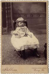 Baby Doll  Young Girl In Rocker 1880s By Stebbins, Corry, Pa, Cabinet Photo