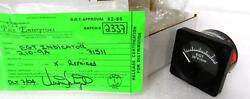 Alcor Model 210-9a Egi Indicator Tag Marked Repaired Release Certification F