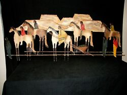 C Jere Wall Art Sculpture 1993 Native Sw Indian Nomad Horse Mountain Painting