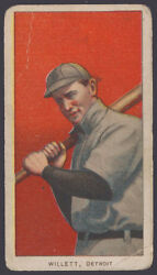 1909 1910 1911 T206 Baseball Tobacco Card Ed Willett Extra Red Ink