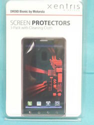Droid Bionic Verizon - Screen Protectors 3-pack With Clean Cloth By Xentris