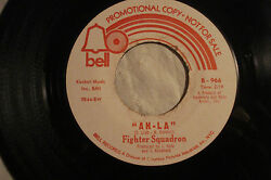 Fighter Squadron Ah-la B/w When He Comes Rare Psych And03967 Promo Bell 966 Nm-