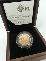 2008 The Royal Mint Uk Gold Proof Full Sovereign Coin