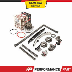 Timing Chain Kit W/o Gears Water Pump For 09-10 Nissan Murano Vq35de V6 Dohc