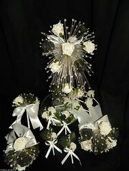 Rose And Crystal Bouquet Collection Wedding Flowers   All Colours