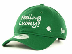 New Era Adjustable Four Leaf Clover Feeling Lucky Green Relaxed Fit Cap Dad Hat