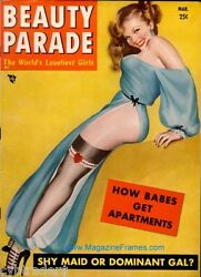 Sexy Pinup Girl 1954 Beauty Parade Magazine Cover Refrigerator Magnet