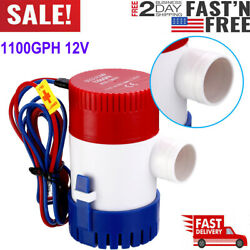 1100gph 12v Electric Marine Submersible Bilge Sump Water Pump For Boat Yacht Usa