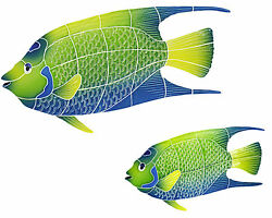 Mosaic Tile Queen Angel Fish For Swimming Pool Or Wall 17 Or 10 Free Shipping