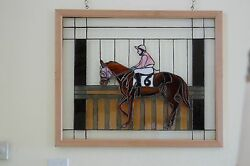 Stained Glass Window. Jockey With Horse 6