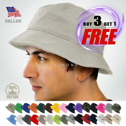 Bucket Hat Cap Cotton Fishing Boonie Brim visor Sun Safari Summer Men Camping $8.75