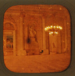 Stereoview Tissue Of Palace Of Versailles Room -vintage Original