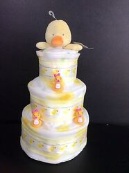 9 Sweet Duckie Girl Baby Shower Gifts Diaper Cake Unique Elegant Centerpieces