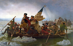 Oil Painting George Washington Crossing The Delaware By Emanuel Leutze 36x48