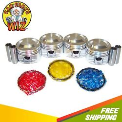 Pistons And Rings Fits 97-04 Ford Escort Focus 2.0l Sohc 8v Cu. 122 Vin P
