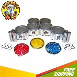 Pistons And Rings Fits 87-92 Toyota Supra Turbo 3.0l L6 Dohc 24v 7mgte