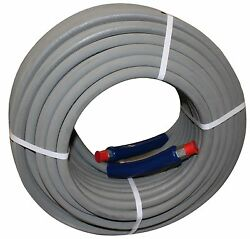 200 Ft 3/8 Gray Non-marking 6000 Psi Pressure Washer Hose Hot Water Steam 200and039