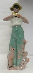 Rare Red Wing Pottery Figurine By Charles Murphy Water Mellon And Gray Color