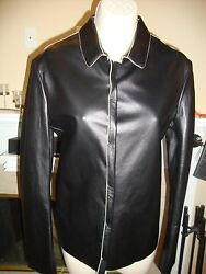 Gorgeous, Rare, Sold Out, Nwt 3,470 Jil Sander Leather Jacket/ Shirt Top