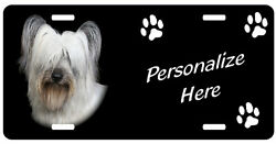 Skye Terrier   Personalized     Automobile  License Plate
