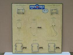 Vtg Proto Tools Store Display Sign Old Signage Advertisement Board Nos Rare
