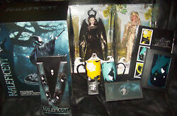Huge Lot Of Disney Maleficent Le Angelina Jolie Likeness Figure Le Pins And More