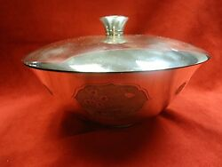 Vintage Covered Sterling Silver Bowl by Kirk & Sons with Floral Design