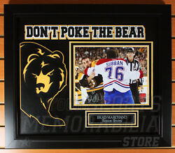 Brad Marchand Boston Bruins Signed Autographed Don't Poke The Bear Framed 8x10