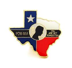 Wholesale Lot Of 12 Texas Pow Mia Lapel Hat Pins Military Marines Army Ppm629