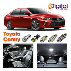 10x White Interior LED Lights Package Kit for 2007 - 2016 2017 2018 Toyota Camry