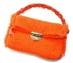 NINA RICCI RESORT 2012 LAINE TWEED LARGE BAG IN ORANGE