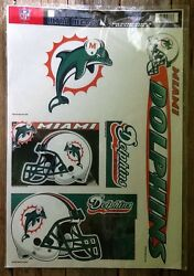 Wincraft Sports Ultra Decals Miami Dolphins Removeable/reusable 5 Decals Dolphin