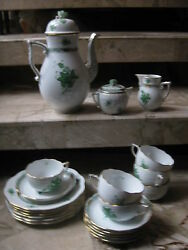 Herend Coffee Service /- Sets For 6 Persons In Chinese Bouquet/apponyi --- Av