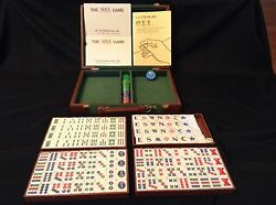 Oxi Mah Jong Game Travel Case Tiles Instructions Circa 1980and039s Never Used