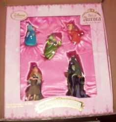 Disney Store Limited Edition 1000 Sleeping Beauty Ornaments Set Nib Sold Out
