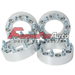 4pc 2 8x6.5 Wheel Spacers Adapters 14x1.5 Studs For Chevy C2500/3500 Gmc Trucks