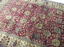 6 X 9 Sultan Abad Oriental Area Rug Hand Knotted New Wool Red Carpet