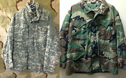 Army Issued Acu Digital Or Woodland Field Jacket Smlxl All Sizes Used