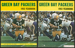 1963 Green Bay Packers Yearbooks 2 Rare Optimists And Food Company