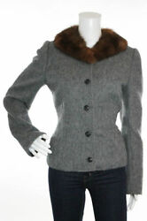 Super Stylish New Sold Out 3k Dolce And Gabbana Alpaca Jacket With Fur Collar