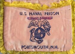 1930s Us Naval Prison Portsmouth Nh Usmc China Marine Sweetheart Sewing Pillow