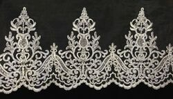 Alencon Bridal Mesh Lace Trim Corded And Sequined Excellent Quality 9