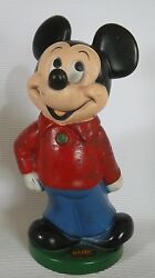 Vtg 60' Walt Disney Productions Mickey Mouse Money Coin I Am A Bank 11.2 Label