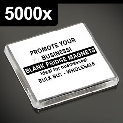 5000x Clear Acrylic Blank Fridge Magnets 58 X 58 Mm Square Size Photo