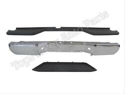 For 2007-2015 Frontier Rear Step Bumper Face Bar Chrome Top Up Lower Center Pad