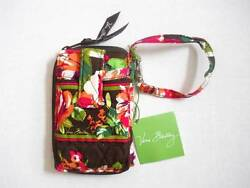 Vera Bradley Women's Cotton CARRY IT ALL Wristlet in English Rose Coins ID NEW